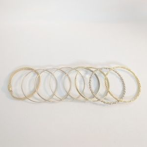 Jewelry - 💢3 for $25💢 Lot of 8 Gold Tone Stack Bangles